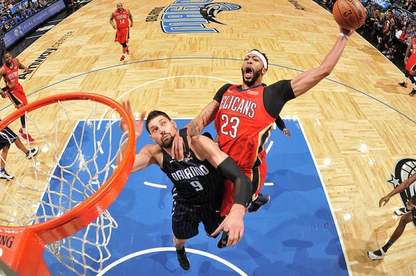 Nba Pro Basketball Art Print featuring the photograph Anthony Davis by Fernando Medina