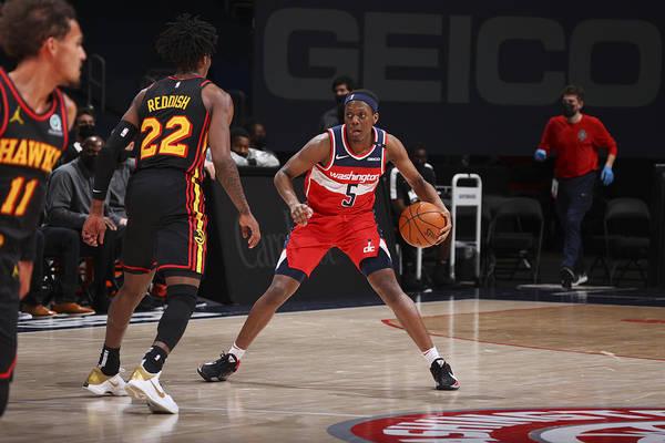 Nba Pro Basketball Art Print featuring the photograph Atlanta Hawks v Washington Wizards by Ned Dishman