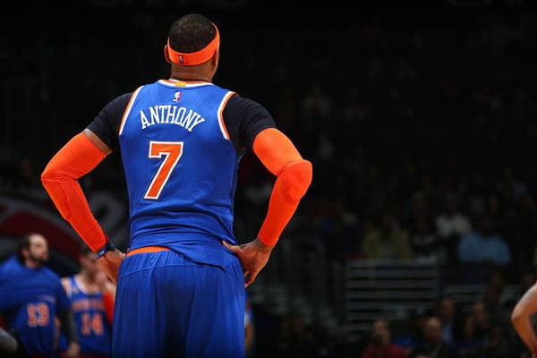 Nba Pro Basketball Art Print featuring the photograph Carmelo Anthony by Ned Dishman