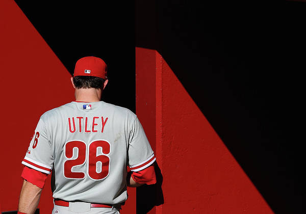 Following Art Print featuring the photograph Chase Utley by Christian Petersen