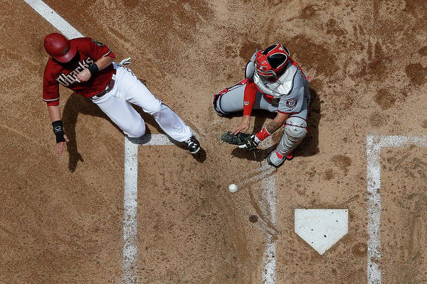Second Inning Art Print featuring the photograph Chris Owings by Christian Petersen