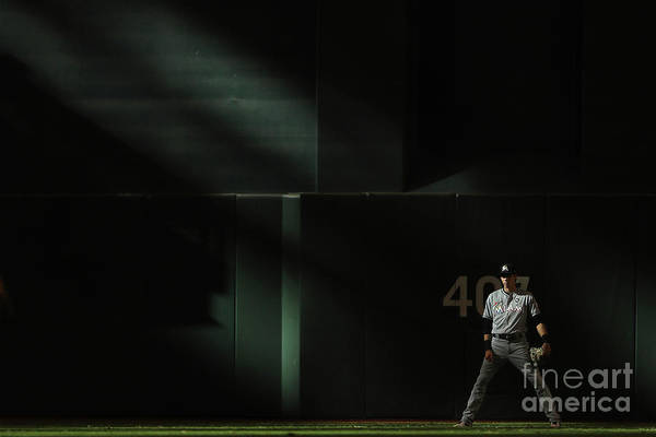Ninth Inning Art Print featuring the photograph Christian Yelich by Christian Petersen