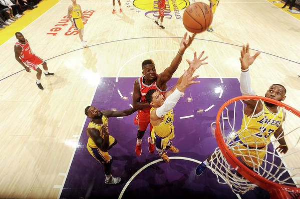 Nba Pro Basketball Art Print featuring the photograph Clint Capela by Andrew D. Bernstein