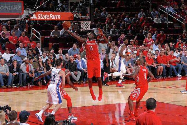 Nba Pro Basketball Art Print featuring the photograph Clint Capela by Bill Baptist