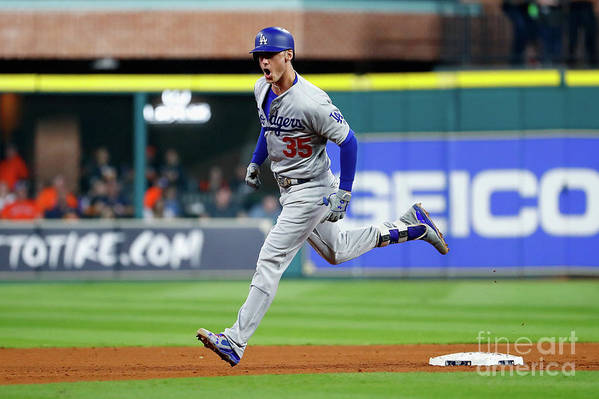 People Art Print featuring the photograph Cody Bellinger by Jamie Squire