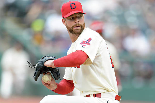 American League Baseball Art Print featuring the photograph Corey Kluber by Jason Miller