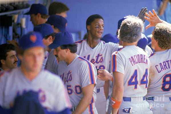 1980-1989 Art Print featuring the photograph Darryl Strawberry by Andrew D. Bernstein