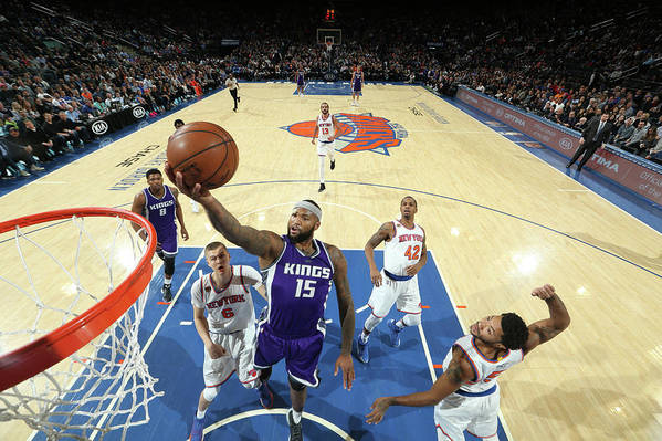 Nba Pro Basketball Art Print featuring the photograph Demarcus Cousins by Nathaniel S. Butler