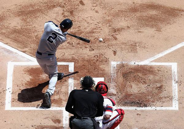 American League Baseball Art Print featuring the photograph Derek Jeter by Jonathan Daniel