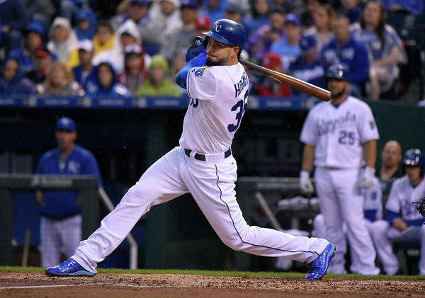 People Art Print featuring the photograph Eric Hosmer by Ed Zurga