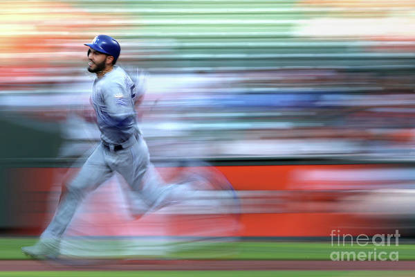 People Art Print featuring the photograph Eric Hosmer by Patrick Smith