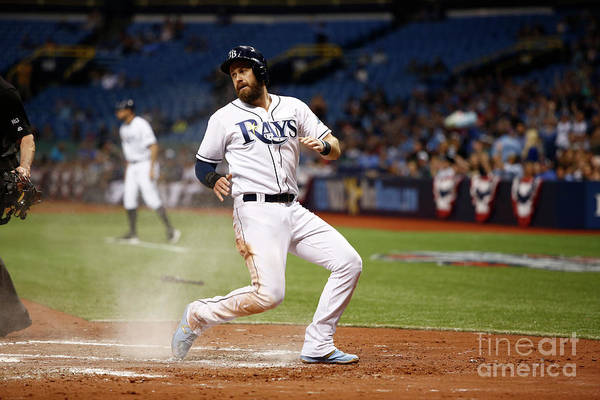 Second Inning Art Print featuring the photograph Evan Longoria and Derek Norris by Brian Blanco