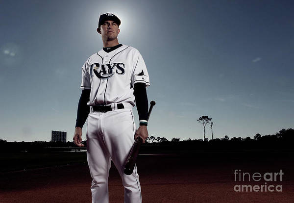 Media Day Art Print featuring the photograph Evan Longoria by Nick Laham