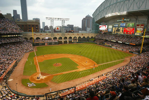 Opening Ceremony Art Print featuring the photograph Florida Marlins v Houston Astros by Bill Baptist