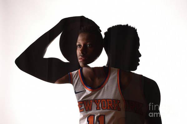 Nba Pro Basketball Art Print featuring the photograph Frank Ntilikina by Brian Babineau