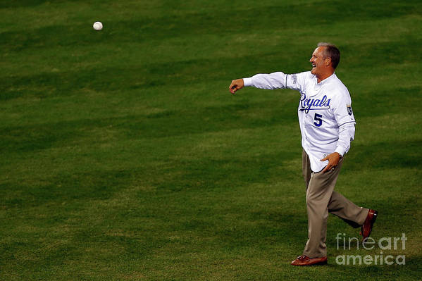 Game Two Art Print featuring the photograph George Brett by Ed Zurga