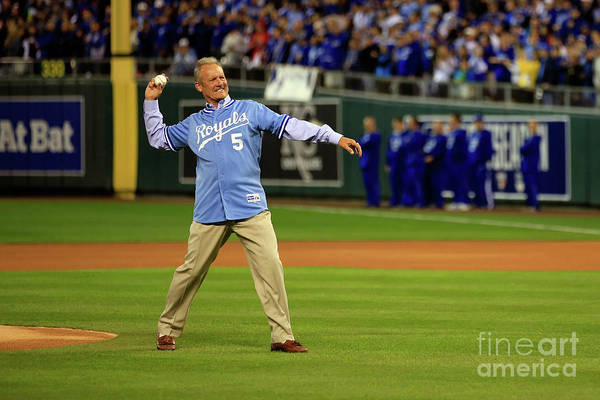 People Art Print featuring the photograph George Brett by Jamie Squire