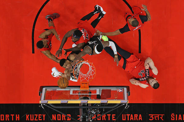 Nba Pro Basketball Art Print featuring the photograph Giannis Antetokounmpo by Scott Audette