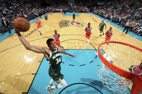 Nba Pro Basketball Art Print featuring the photograph Giannis Antetokounmpo by Zach Beeker