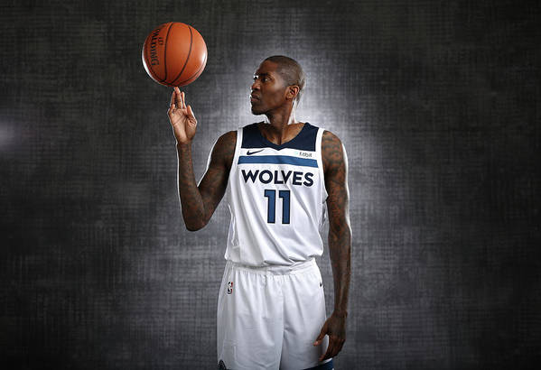 Media Day Art Print featuring the photograph Jamal Crawford by David Sherman