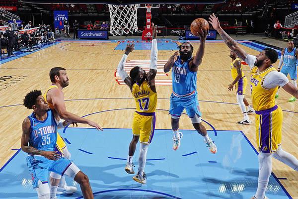 Nba Pro Basketball Art Print featuring the photograph James Harden by Cato Cataldo