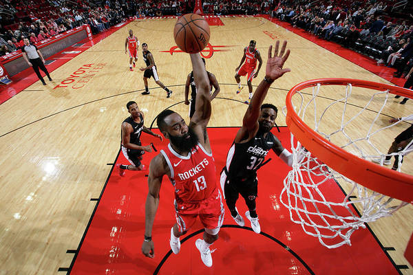 Nba Pro Basketball Art Print featuring the photograph James Harden by Ned Dishman