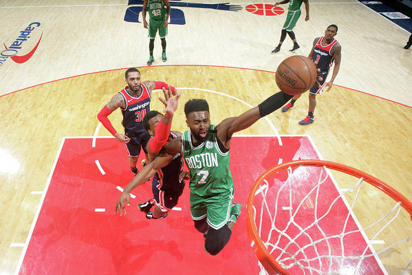 Nba Pro Basketball Art Print featuring the photograph Jaylen Brown by Ned Dishman
