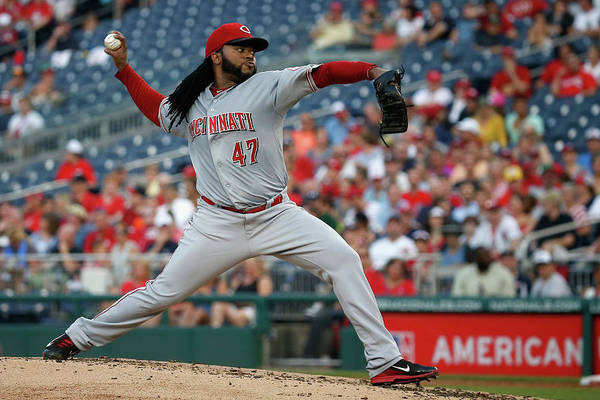People Art Print featuring the photograph Johnny Cueto by Rob Carr