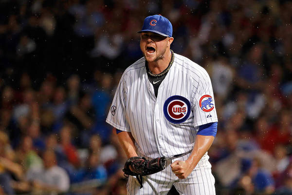The End Art Print featuring the photograph Jon Lester by Jon Durr