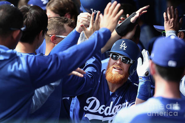 People Art Print featuring the photograph Justin Turner by Christian Petersen