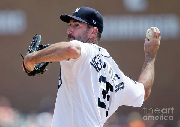 Second Inning Art Print featuring the photograph Justin Verlander by Duane Burleson
