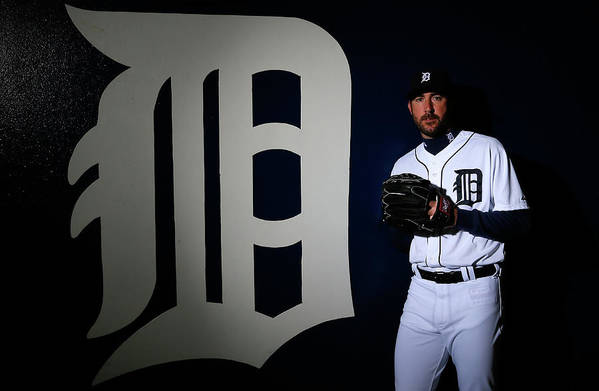 Media Day Art Print featuring the photograph Justin Verlander by Kevin C. Cox