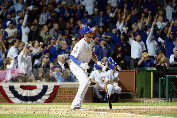 People Art Print featuring the photograph Kris Bryant by David Banks