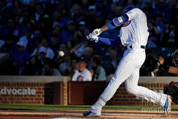 People Art Print featuring the photograph Kris Bryant by Jon Durr