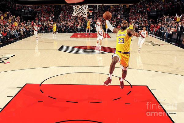 Nba Pro Basketball Art Print featuring the photograph Lebron James by Cameron Browne