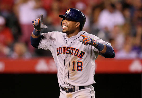 People Art Print featuring the photograph Luis Valbuena by Stephen Dunn