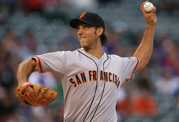 Baseball Pitcher Art Print featuring the photograph Madison Bumgarner by Doug Pensinger