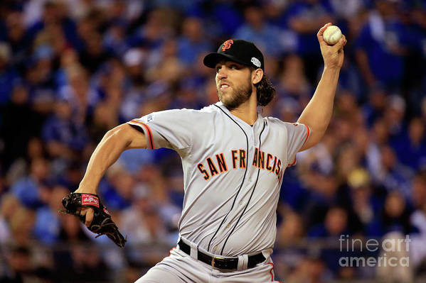 People Art Print featuring the photograph Madison Bumgarner by Rob Carr