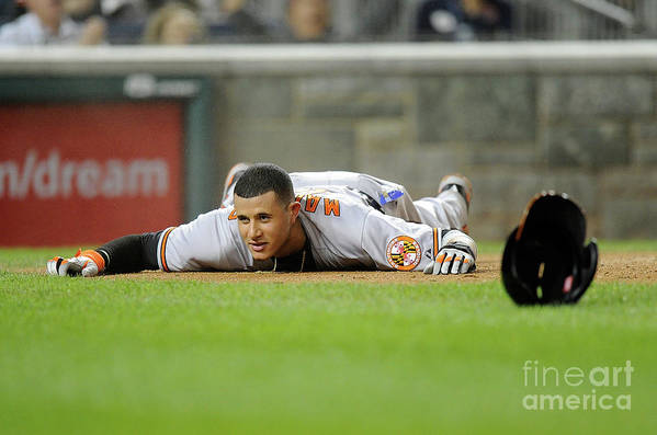 People Art Print featuring the photograph Manny Machado by Greg Fiume