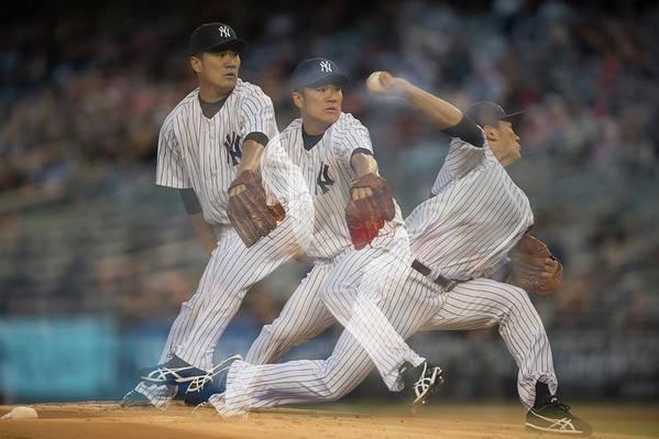 American League Baseball Art Print featuring the photograph Masahiro Tanaka by Rob Tringali