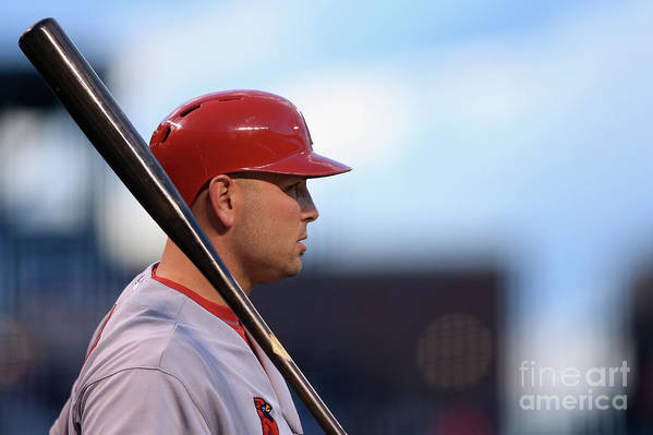 St. Louis Cardinals Art Print featuring the photograph Matt Holliday by Doug Pensinger