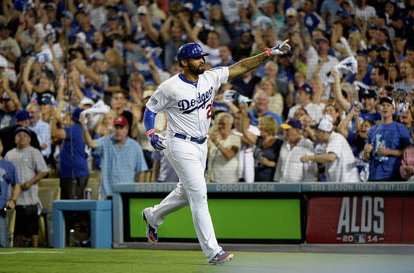 Game Two Art Print featuring the photograph Matt Kemp by Harry How