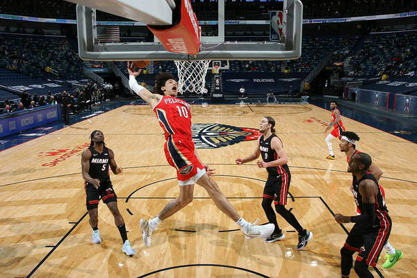 Smoothie King Center Art Print featuring the photograph Miami Heat v New Orleans Pelicans by Layne Murdoch Jr.