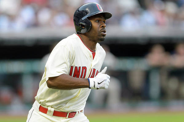 Michael Bourn Art Print featuring the photograph Michael Bourn by Jason Miller