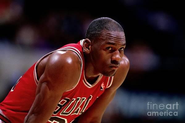 Chicago Bulls Art Print featuring the photograph Michael Jordan by Nba Photos