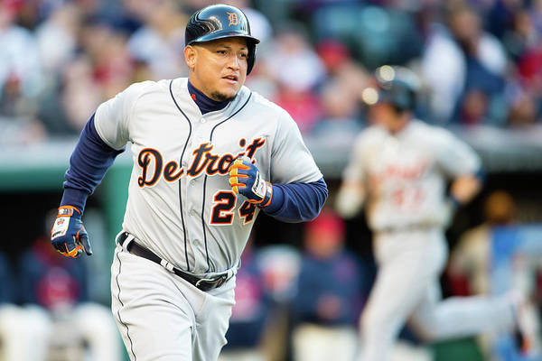 American League Baseball Art Print featuring the photograph Miguel Cabrera by Jason Miller