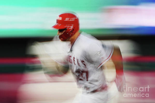 Three Quarter Length Art Print featuring the photograph Mike Trout by Patrick Smith