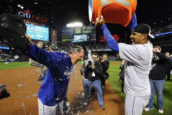 Salvador Perez Diaz Art Print featuring the photograph Ned Yost by Al Bello