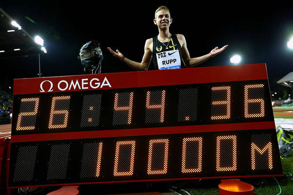 Galen Rupp Art Print featuring the photograph Nike Prefontaine Classic-Day1 by Jonathan Ferrey