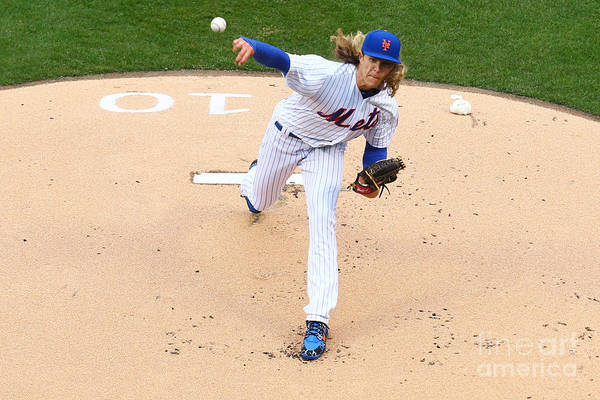 People Art Print featuring the photograph Noah Syndergaard by Mike Stobe